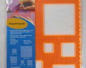 Fiskars Shape Template - Squares 1 - Deckle Border - SC019