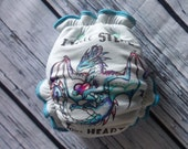 One Size Hybrid Fitted Cloth Diaper in Steal Your Heart by Soothe Baby - Slight Second