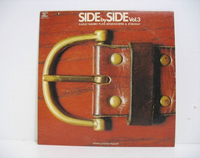 Kazuo Yashiro Side by Side Vol. 3 LP Jazz Piano Music Record Album Audio Lab, Japan Pressing