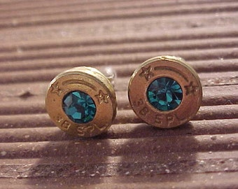 Sterling Silver Bullet Earrings 38 Special Brass Shells