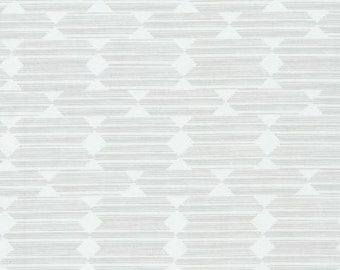 Organic Cotton, Cloud9 , Anecdote, Gray, from Leah Duncan's Lore Collection, by the half-yard