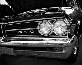 1964 Pontiac GTO Car Photography, Automotive, Auto Dealer, Muscle, Sports Car, Mechanic, Boys Room, Garage, Dealership Art