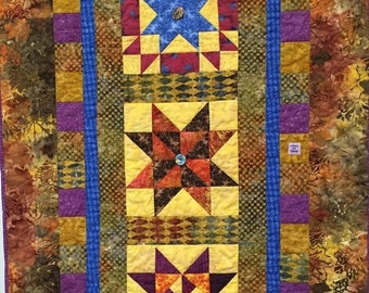 Fall Sale Three Sisters hand quilted art quilt