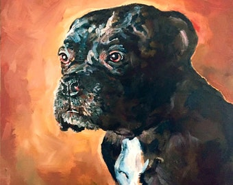 16x16 Custom Dog Portrait