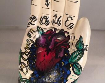 Tattoo flash ceramic hand
