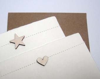 sewn heart / star card