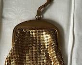 Listing For Eleanor-Whiting and Davis Gold Mesh Wristlet, Handbag, Purse, Vintage, Antique