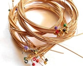 40 Guitar Strings, Wire for Bracelet making, Jewelry, Craft supplies, ornaments, Rings, bangle Wire, Free Shipping
