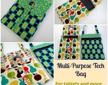 Tech or Tablet Tote Bag - PDF Sewing bag / purse Pattern