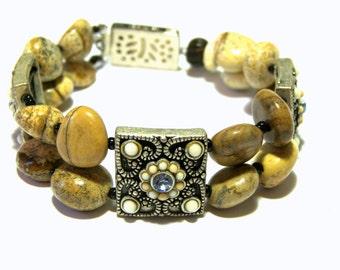 Jasper Beaded Bracelet Beaded Jewelry Jasper Jewelry Mother of Pearl Jewelry Gift Ideas Top Selling Jewelry