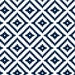 Aztec Fabric - Aztec / Navy Custom Fabric By Little Arrow Design - Aztec Cotton Fabric By The Yard with Spoonflower
