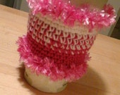 Pink Ribbon Cup Cozies,  Keep Hot Drinks Hot,  Keep Hands From Burning.  Great Mother's Day Gift!  Custom Also Available.
