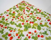 Reserved for Linda Vintage 1970's All Occasions Gift Wrap | Red Green Strawberries Strawberry Wrapping Paper