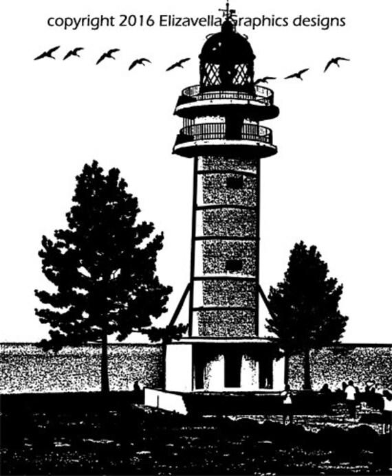 old lighthouse png graphics nautical sailing clip art digital dowload ocean seascape landscape printable art