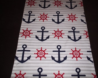 Waverly Nautical Themed Anchor Table Runner