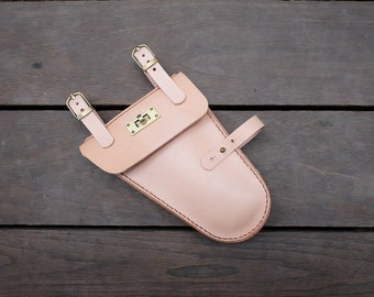 New!!!! Leather Bicycle Bag nature color