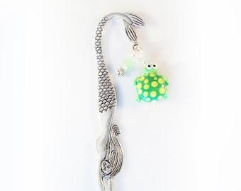Mermaid Bookmark with Lampwork Glass Turtle Bead