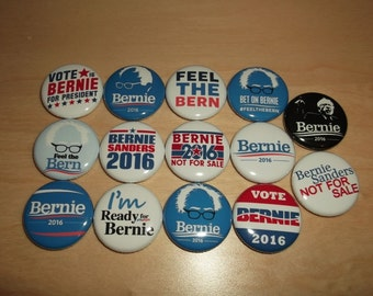 BERNIE SANDERS 2016 Campaign buttons badges pins democrat revolution button badge feel the bern *complete ALL 14 buttons*