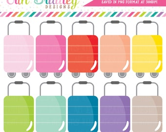 Luggage Clipart, Travel Clipart, Commercial Use Clipart Graphics