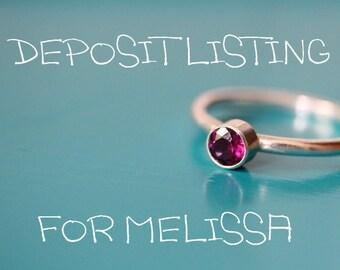 DEPOSIT Listing For Melissa
