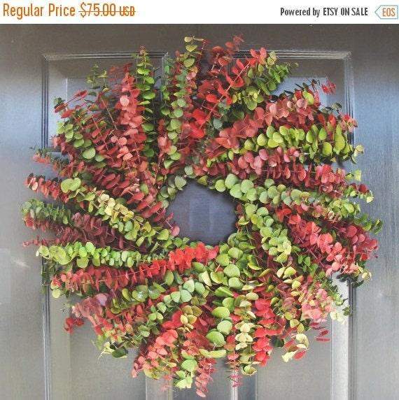 FALL WREATH SALE Dried Floral Christmas Wreath- Eucalyptus Wreath- Dried Floral Wreath- Holiday Decor
