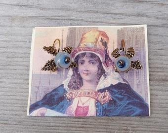FRUITS BLEUS Handmade in France  earrings for everydays