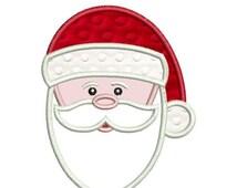 SALE 65% off Applique Santa Claus Face Christmas Machine Embroidery Designs 4x4 & 5x7 Instant Download Sale