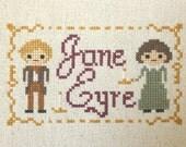 Jane Eyre Cross Stitch:  Literature Inspired PDF Digital Instant Download
