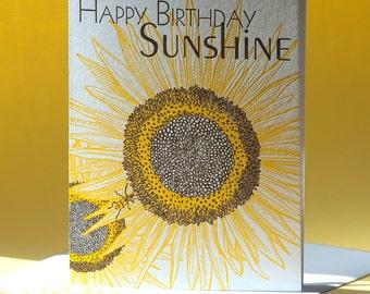 Birthday Card - Sunflower