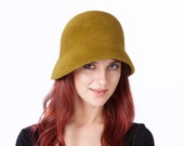 Simple Cloche Hat Felt Cloche Hat Spring Accessories Spring Fashion Women's Cloche Hat Downton Abbey Hat 1920s Cloche Hat 1930s Cloche Hat