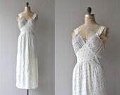 Confetti Dot nightgown | vintage 1930s nightgown | rayon 30s nightdress