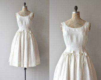 Pearl Lustre wedding dress | vintage 50s wedding dress | 1950s wedding dress