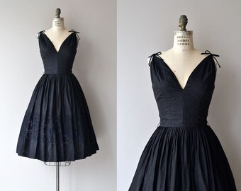 Bona Nox dress | vintage 1950s dress | black 50s dress