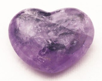 "Amethyst 1-1/8"" Puffy Heart"