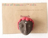 """Doll Pin in Brown """"Red"""""""