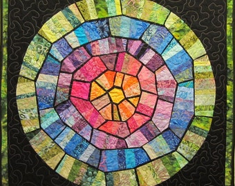Stained Glass Wall Hanging Art Quilt