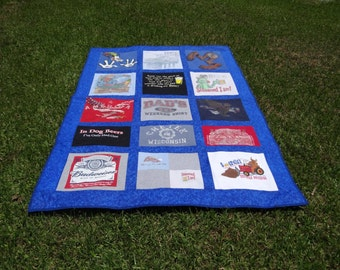 Tee Shirt Quilt from 15 of your Own tshirts.