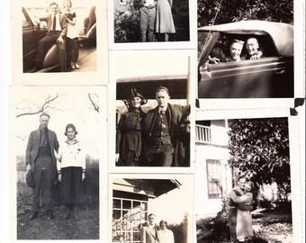 32 vintage Photo Lot Couple in Love Pretty Woman Handsome Man Hug Kiss snapshots