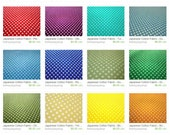 Tiny Polka Dots Fabric - Colorful Dots Fabric - Japanese Cotton Fabric - Fat Quarter Fabric Bundle in 20 Colors