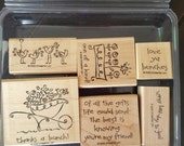 Simple Wishes Love Ya Bunches Stampin Up Set of 6 stamps