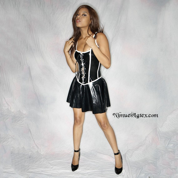 Latex Cheerleader Skirt, made-to-order in a variety of colors and sizes