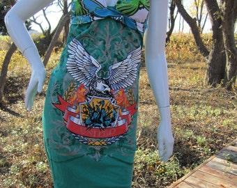 Green Eagle Shield t shirt bikini dress