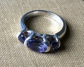 Sterling Tanzanite Ring Signed 925 6.5