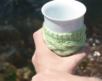 Knit coffee sleeve, knit coffee cozy, coffee mug cozy, cup cozy, travel mug cozy, knit cup cozy, coffee, tea, home, drink, knit gift