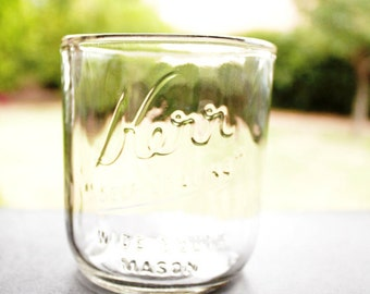 YAVA Glass - Upcycled Kerr's Wide Mouth Mason Jar Glass