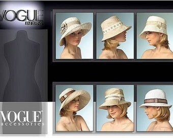 Vogue Patterns V8405 - Misses Hat Sewing Pattern - Out of Print - Uncut, FF