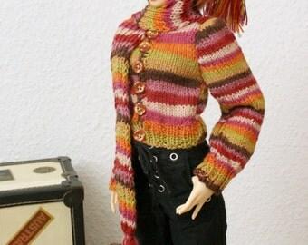 BJD Cardigan Set for SD Girls Feeple60 Handknit
