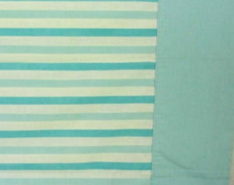 Vintage Classic Light Blue Stripes on White Pillowcase