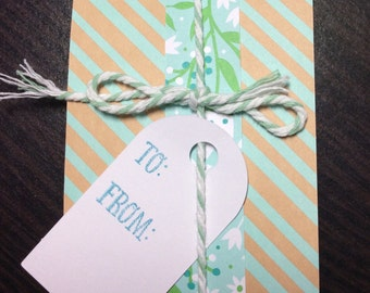 Gift card holder envelope