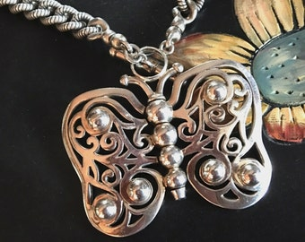 Barry Kieselstein-Cord Butterfly Pendant Necklace - RARE